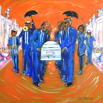 Painting - Jazz Funeral by Aaron Harvey
