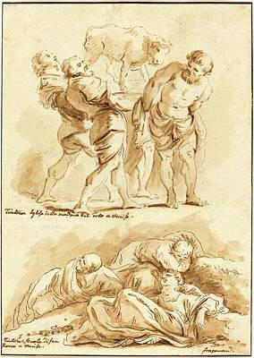 Jean Claude Richard De Saint-non After Jean-honoré Art Print by Litz Collection