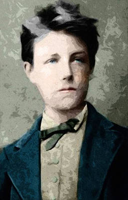 Poem Mixed Media - Self Portrait Jean Nicolas Arthur Rimbaud  by Celestial Images