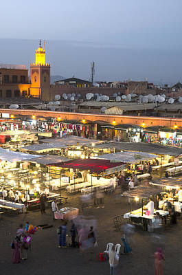 Jemaa El Fna At Dusk Marrakech Morocco Art Print