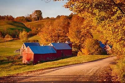 Autumn Photograph - Jenne Farm by Jeff Folger