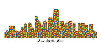 Soap Suds - Jersey City New Jersey Building Blocks Skyline by Gregory Murray