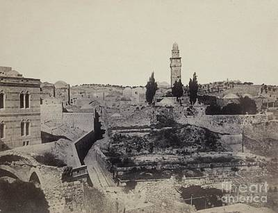 Tower Of David Photograph - Jerusalem, 1860 by British Library