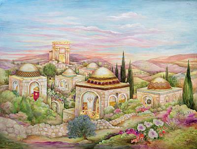 Jerusalem Landscape Art Print by Michoel Muchnik