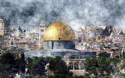 Jerusalem Painting - Jerusalem by MotionAge Designs