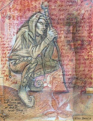 Jester Mixed Media - Jester Sketch by Chris Bradley