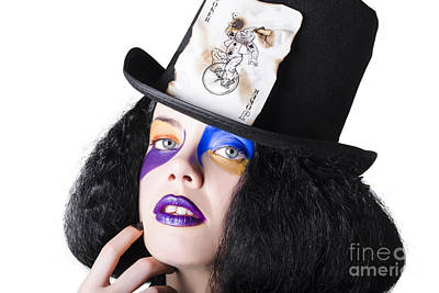 Jester With Joker Card On Hat Art Print by Jorgo Photography - Wall Art Gallery