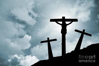 Easter Photograph - Jesus Christ Crucified In Golgotha by Jose Elias - Sofia Pereira