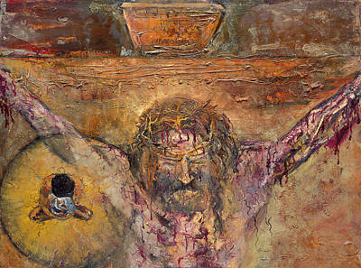 Painting - Jesus Dies On The Cross by Patricia Trudeau