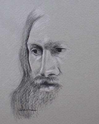 Drawing - Jesus by Kathy Weidner