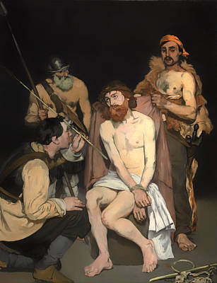 Christian Artwork Painting - Jesus Mocked By The Soldiers by Mountain Dreams