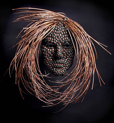 Relief Copper Art Sculpture - Jeweled by Adam Long