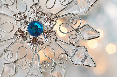 Photograph - Jeweled Snowflake by Terry Ellis