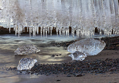 Ice Crystal Photograph - Jewels Of Superior by Mary Amerman