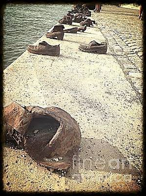 Photograph - Jewish Shoe Memorial by John Potts