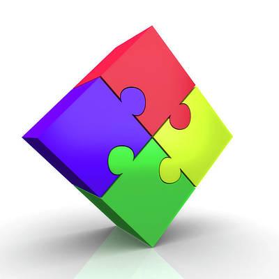 Computer Generated Photograph - Jigsaw Puzzle by Wladimir Bulgar