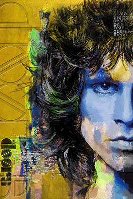 Strange Days Painting - Jim Morrison by Corporate Art Task Force