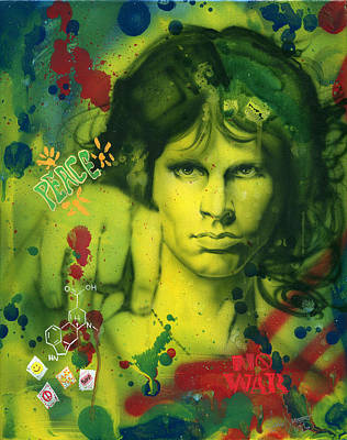 Addict Painting - Jim Morrison by Luis  Navarro