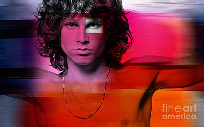 Jim Morrison Painting Art Print