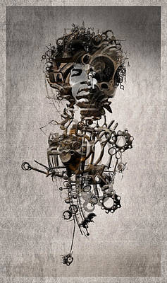 Art Print featuring the digital art Jimi Hendrix by Andy Walsh