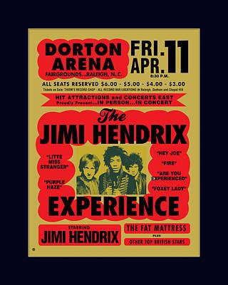 Graphic Painting - Jimi Hendrix by Gary Grayson