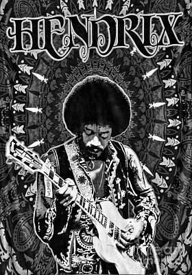 Pop Star Photograph - Jimi Hendrix by Peter Dang