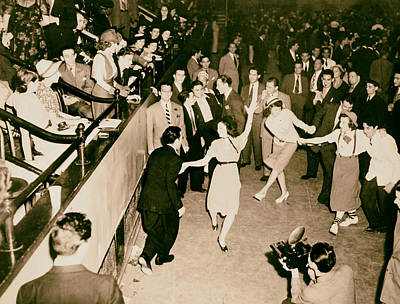 Dance Floor Photograph - Jitterbugging 1937 by Mountain Dreams