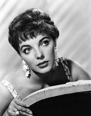 Chandelier Earrings Photograph - Joan Collins, Ca. Late 1950s by Everett