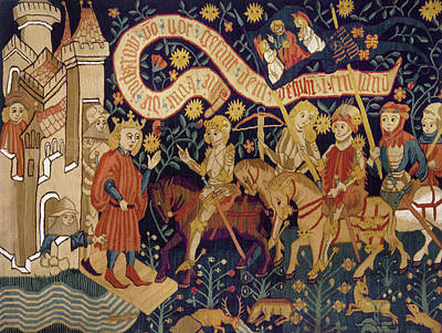 Tapestries Textiles Painting - Joan Of Arc, 1429 by Granger