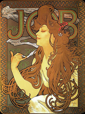 Job Art Print by Alphonse Mucha