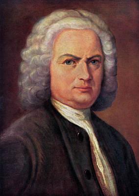 Photograph - Johann Sebastian Bach Portrait by English School