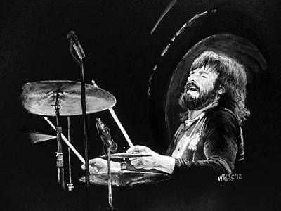 John Bonham Painting - John Bohnam by William Walts