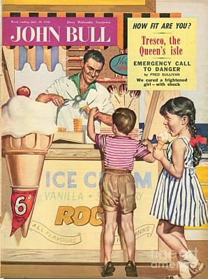 John Bull 1950s Uk Holidays Ice-cream Art Print