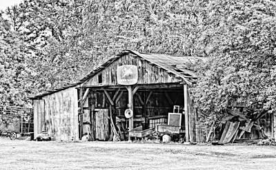 John Deere Barn Art Print by Scott Pellegrin