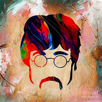 John Lennon Collection Print by Marvin Blaine