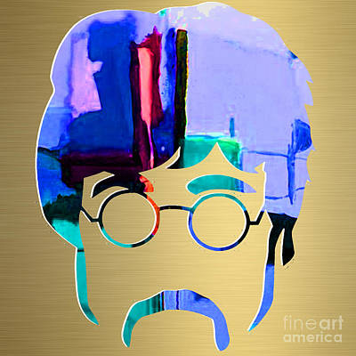 Beatles Mixed Media - John Lennon Gold Series by Marvin Blaine