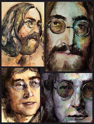 Art Print featuring the painting John Lennon by Laur Iduc