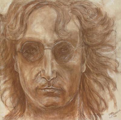 John Lennon Portrait Drawing - John Lennon by Laura Corebello