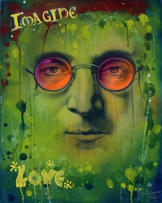 John Lennon Art Print by Luis  Navarro