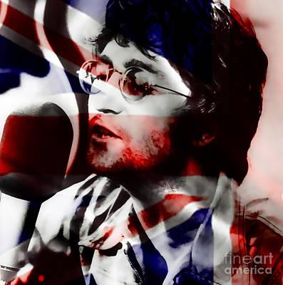 Ringo Mixed Media - John Lennon by Marvin Blaine