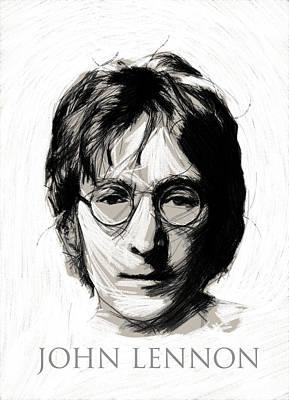 Musican Drawing - John Lennon by Steve K