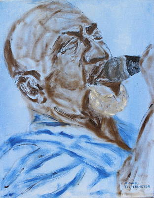 Lead Vocalist Painting - John Mays by Michael Titherington