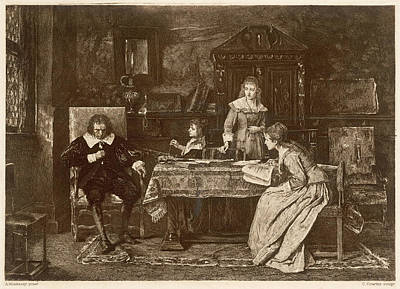 Dictate Drawing - John Milton, Blind In Old Age, Dictates by Mary Evans Picture Library