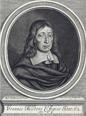 Free Speech Photograph - John Milton, English Poet by Folger Shakespeare Library
