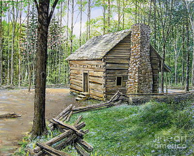 Painting - John Ownby Cabin  by Bob  George