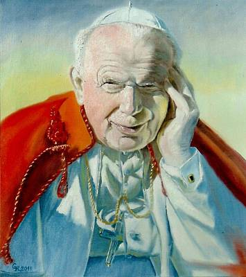 Henryk Painting - Saint John Paul II by Henryk Gorecki