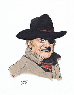 True Grit Painting - John Wayne #7 by Jay Kinney
