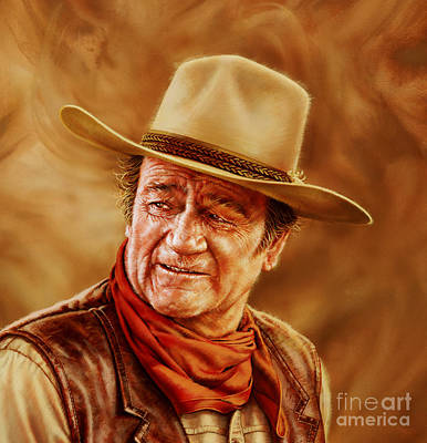 Painting - John Wayne by Dick Bobnick