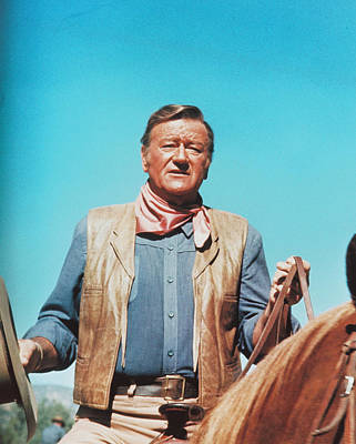 John Wayne In The Cowboys Art Print