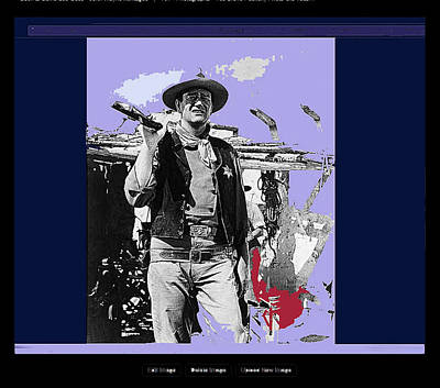 John Wayne Rio Bravo Publicity Photo 1959 Old Tucson Arizona Art Print by David Lee Guss